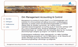MAC - Management Accounting & Control